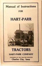 HART-PARR Tractors Instruction Manual.........MC