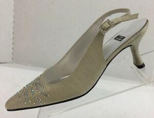 STUART WEITZMAN Women's Satin Slingback Shoe Size 8 NEW MSRP $245