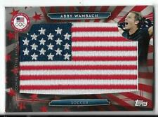 RARE 2016 TOPPS OLYMPIC ABBY WAMBACH FLAG PATCH CARD 06/25 ~ USA SOCCER GREAT