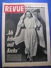 """REVUE Nr.16/1953 *ZEITSCHRIFT*RAUMSTATION*ZSA ZSA GABOR* FILM """"DURST"""" (SCHWEDEN)"""