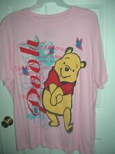 new womens sleep T-shirt size 1x Disney Pooh pink TAGLESS PLUS