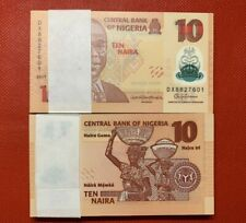 More details for lot 100 pcs, nigeria 10 naira, 2009-2019, p-38, polymer, unc