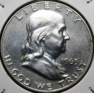 #1445# 1963-P Franklin Half Dollar BU/UNC