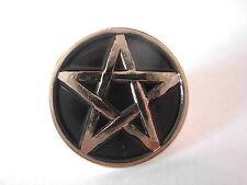 Pentagram pin badge. Pentacle. Pentangle Occult Witchcraft Warlocks Pagans Pagan