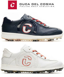 Duca Del Cosma Masters Waterproof Nappa Leather Golf Shoes, Soft Spikes FREE P&P