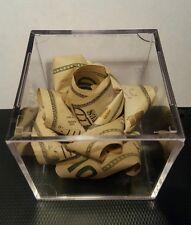$50 Origami Money Rose in Display Cube