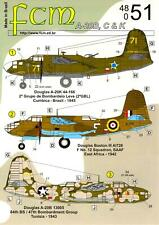FCM Decals 1/48 DOUGLAS A-20 HAVOC or BOSTON III Medium Bomber