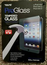 Tzumi -ProGlass -Tempered Glass -Screen Protector -iPad Mini, mini 2, mini 3 NIP