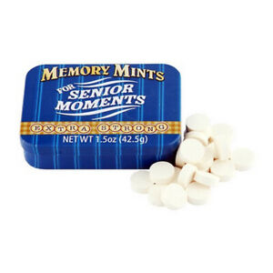 Memory Mints for Senior Moments Fun Novelty Gag Gift Mint