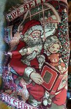 Fieldcrest Christmas Story Tapestry Throw Blanket We Believe Santa Fringe