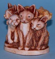 """Harmony Kingdom box Tjca3 """"Fur Ball"""" cats ret. 2003 Nib kittens Peter Calvesbert"""