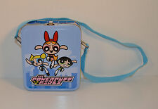 "5.5"" Powerpuff Girls Tin Metal Toy Lunchbox Lunch Box w/ Shoulder Strap"
