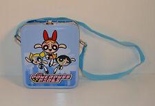 "5.5"" Powerpuff Girls Tin Metal Toy Lunchbox Lunch Box w/ Shoulder Strap"