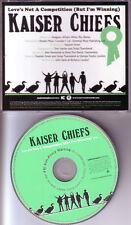KAISER CHIEFS Love's Not a Competition PROMO Radio DJ CD Single 2007 USA