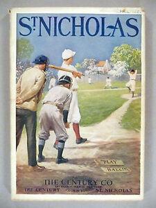 St Nicholas Magazine - April, 1925 -- baseball cover