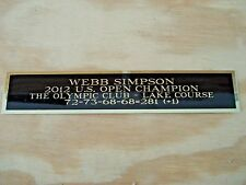 Webb Simpson Nameplate For A 2012 U.S. Open Golf Flag Or Golf Ball Case 1.25 X 6