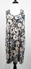 Christopher Kane Floral Flower Print Racerback Tank Jersey Dress Large