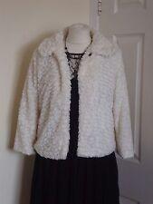 Designer Stylish Fur Jacket Coat Size S Debenhams *Mela Loves London*