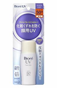 Kao Biore UV Perfect Face Milk Sunscreen SPF50+/PA++++ 30mL with tracking Japan