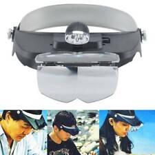 Profi Kopflupe Stirnlupe Vergrößerungs Lupenbrille Brillenlupe Stirnband LED