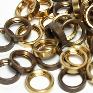 """Solid Brass Ring Nuts ½"""" x 26 tpi or M10 x 1mm For Light Fittings  Packets of 10"""