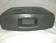 Sony Icf-Cd820 Stereo Dual Alarm Clock Radio w/ Cd Player Icfcd820 Tested Works