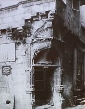 Maison Tenant Angled Doorway, Perigueux, France, Magic Lantern Glass Slide
