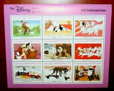 1988 Grenada 101 Dalmations 30c Souvenir Sheet of 9 Stamps