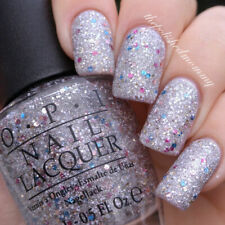 OPI Muppets World Tour - M75 White Silver Pink Blue Glitter Nail Polish Lacquer