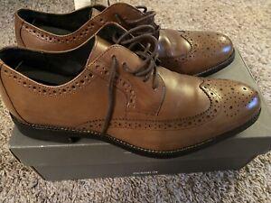 Stacy Adams Cognac Garrison Wing Tip Dress Shoe | US MENS - 8.5 | SLIGHTLY USED!