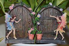Paire Magical Fairy Portes Deux Mythique Secret Jardin Salle Tree