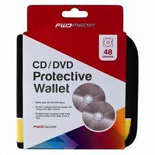 Nuevo 48 discos CD/DVD para Coche Almacenamiento Billetera Soporte Funda De Transporte Bolsa De Mangas De Bolsillo