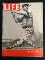 VINTAGE~LIFE Magazine April 25 1938   John Thomas Winsett Brooklyn Dodgers M1787