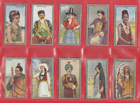 NATIONS  -  SCOTTISH  C.W.S.  -  SET  OF  25  RACIAL  TYPES  CARDS  -  1925