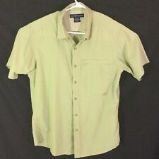 Exofficio Short Sleeve Shirt Vented Outdoors Casual Shirt snap buttons Camping