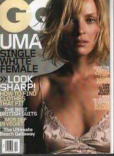 Gq Hombres Revista Diciembre 2003 Uma Thurman 031120AME