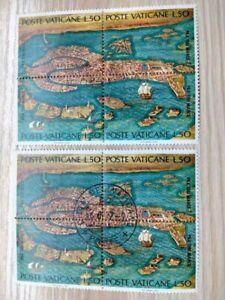 "2 Vatican City 1972 UNESCO ""Save Venice"" MNH & CTO blocks sg:MS580"