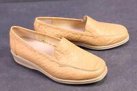 C1220 Goldkrone Damen Schuhe Slipper Leder beige Gr. 36,5 (4H) Wechselfußbett