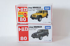 TOMICA~ No.80 Jeep WRANGLER Yellow(初回) & Green 2 cars ~ 1/65  Free Shipping
