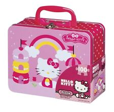 Hello Kitty Rainbow Puzzle in Tin Lunch Box - 100 Pieces - Girls Ages 3 & Up