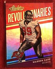 Warren Sapp 2018 Absolute  Revolutionaries  #19 ~~ Buccaneers 🏈🏈