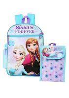 Disney Frozen Elsa Anna Girls School Backpack Lunch Box Book Bag 5 Piece SET Toy
