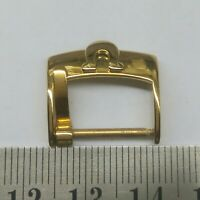 VINTAGE OMEGA WATCH 18MM GOLD PLATED BUCKLE FOR PARTS USED FOR WATCHMAKERS