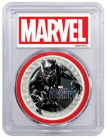 2018 $1 Tuvalu 1 oz .999 Silver Black Panther Colorized Proof Coin