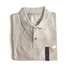 42b6460b9 Mens Polo Shirt Banana Republic Sz XL Biege Cotton Button Pique Shirts
