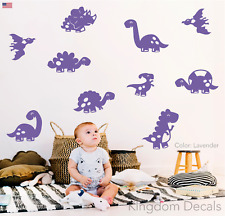 10 Baby Dinosaur Wall Vinyl Stickers Decals Cute Assorted Kids Bedroom Decor