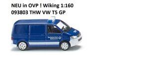 NEU in OVP !! WIKING 1:160 THW VW T5 Transporter 093803