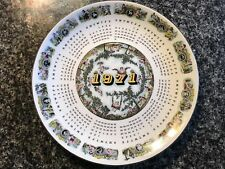 Lovely Wedgwood Queen'S Ware '1971' Calendar Plate! !