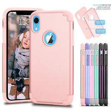 For iPhone XR Phone Case Luxury Rugged Rubber Hard Shockproof Cover Cases