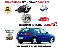 FOR VOLKSWAGEN VW GOLF 1999-5/2001 2.3 V5  FRONT BRAKE 288mm DISCS + Pads Set
